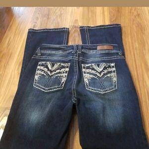 WallFlower Jeans Straight Leg Blue curvy 7
